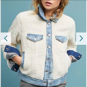 Anthropologie Pilcro Sherpa trucker jacket